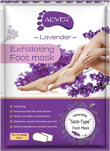 commander exfoliating foor mask