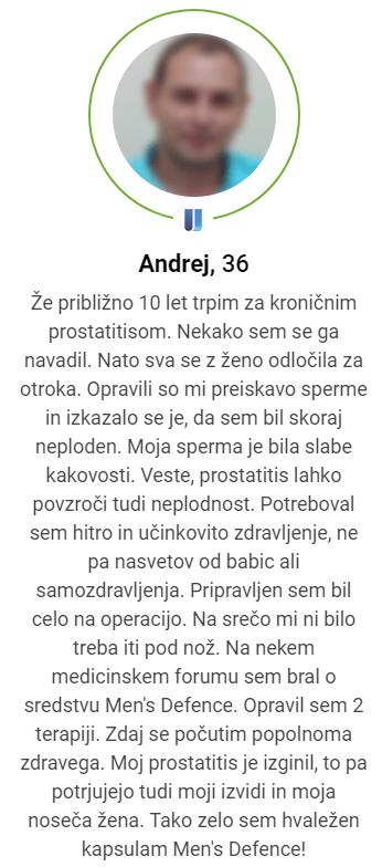 Men's defence narocilo