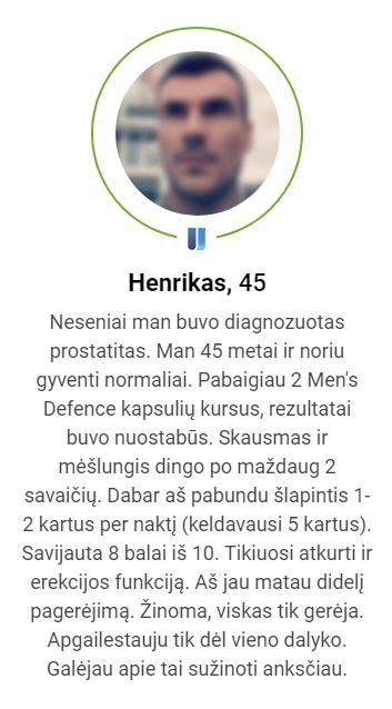 Men's defence uzsisakyti