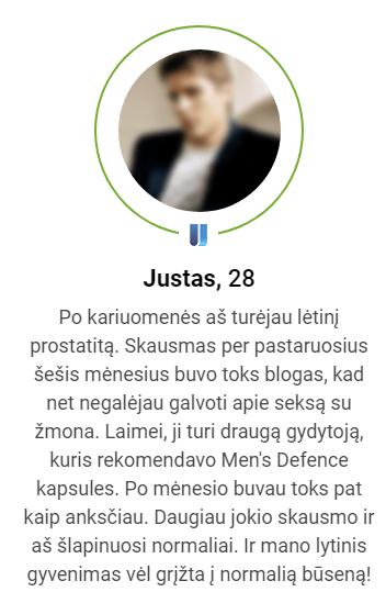 atsiliepimai apie Men's defence