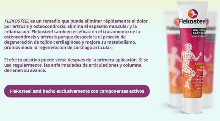 que contiene flekosteel unguent pentru tratamentul inflamației articulațiilor degetelor